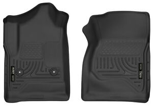 Car Floor Mats For 2014 2018 Silverado Sierra Reg Cab 1st Row Husky Liners X act