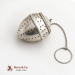 Large Pointed Form Tea Ball Watrous International Sterling Silver
