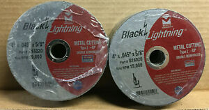 25 Pack 4 X 045 X 5 8 Cut off Wheel Type 1 Metal Cutting Discs Mercer