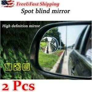 2 Pcs Universal Blind Spot Mirror Car Rear Side View 360 Wide Angle Convex Usa