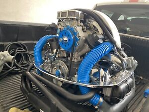 Remanufactured Vw 1600 Bolt on Engine Replacement Chrome blue Heat Ducts