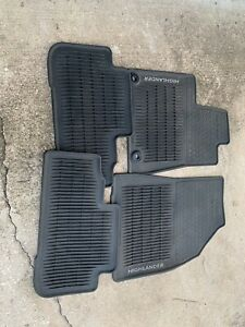 2014 2018 Toyota Highlander Floor Mats Rubber All Weather Genuine Oem 4pc Set