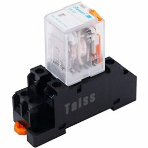 Twidec ac 12v Coil Dpdt Electromagnetic Power Relay 8 Pins 2no 2nc With Manual