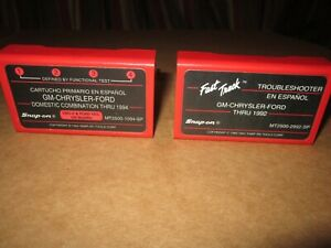 Snap On Scanner Mt2500 Domestic Primary Trouble Shoot Cartridges In Spanish Rare