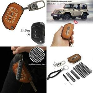 Rt tcz For Jeep Wrangler Key Case Fob Holder Bag Remote Keyless Protector Fit Fo