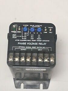 Instrument Transformers Phase Voltage Monitor Lpvr 480 10 360 500 3 Phase Used