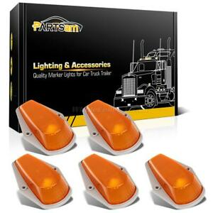 5pcs Roof Running Clearance Light Amber Covers Base Housing For Ford F 250 80 97
