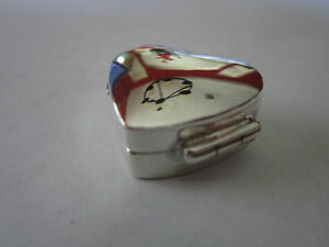 Gorgeous Sterling Silver Pill Box Heart Shape New Style 925 Silver