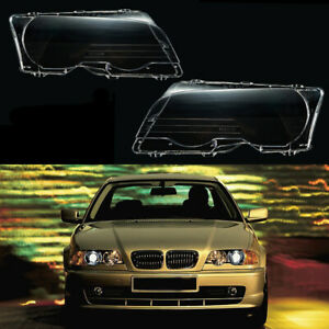 Pair Lh Rh Front Headlight Lamp Cover Lens For Bmw E46 323ci 325ci 328ci 330ci