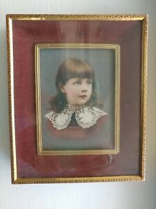 Antique Picture Frame Victorian Era Ornate Brass And Velvet Frame Beautiful