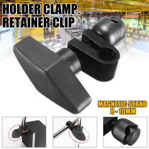 8 10mm Indicatior Dial Guage Holder Clamp Magnetic Stand Retainer Clip