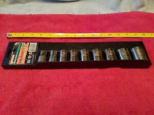 Craftsman 1 2 Drive Sae Socket Set 9 Pc 12 Point Easy read Made In Usa