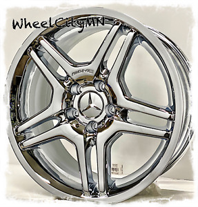 17 Inch Chrome Mercedes Oe Replica Wheels Fits E Class Slk 350 Clk Cl500 5x112