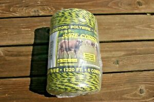 Fi shock Pw 400 Polywire Stainless Steel 6 Conductor High Visibility