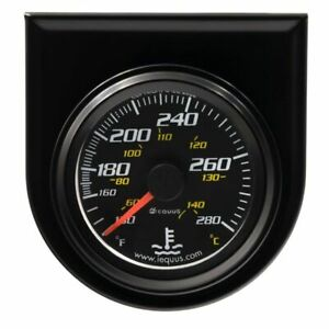Equus 2 Inch Black Faced Mechanical Water Temperature Gauge Kit Equus 6242 New