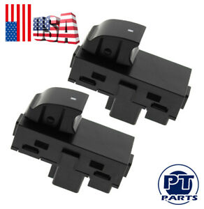 2xpower Window Switches Rear Driver Passenger L R Side For Chevy Gmc Yukon Br