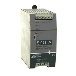 Sola Sdn 10 24 100c Power Supply 100 240vac Input 24vdc Output