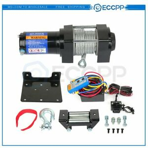 Eccpp 12v 4000lbs Electric Winch Steel Cable Truck Trailer Towing Off Road 4wd