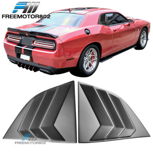 Fits 08 20 Dodge Challenger Xe V3 Style Window Louvers Scoops Matte Black Pp