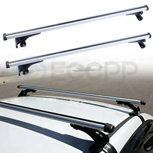 Universal Car Top Roof Rack Cross Bar 48 Luggage Cargo Carrie Adjustable Black