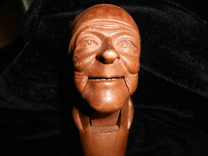Vintage Pirate With Head Scark Hand Carved Wooden Nutcracker