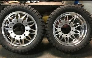 22 22 5 And 24 Alcoa Custom Magno Dually Rims Dually Wheels Custom