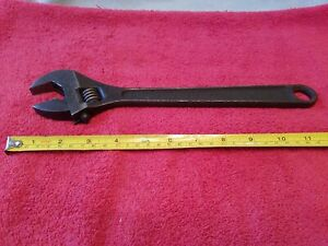 Snap On Blue Point 12 Adjustable Wrench Made In Usa