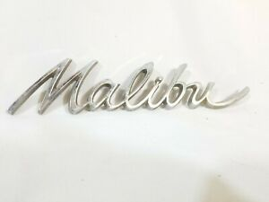 1966 1967 Chevrolet Malibu Chrome Emblem Trim Decal Script Vintage Oem Badge
