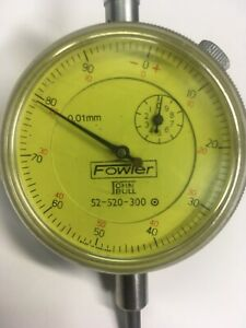 Fowler john Bull 52 520 300 Dial Indicator 0 01 Mm 1 2 Travel