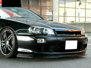 Type D1 Style Frp Front Bumper Lip Exterior Body Kit For Nissan R34 Skyline Gtt
