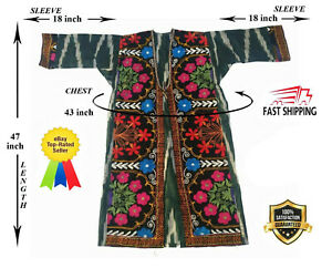 Adras Uzbek Suzani Vintage Original Embroidery Robe Dress Sale Was 165 00