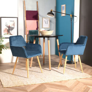 Home Office Chair Upholstered Dining Chairs Modern Small Armchair Fabric Kitchen