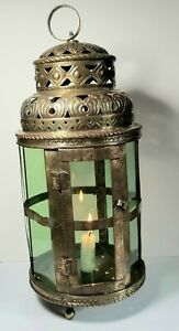 Antique 18th C Dutch Brass Candle Lantern Circa 1740