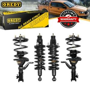 Set Of 4 Front Rear Pair Complete Strut Assembly For Honda Civic 2001 2005