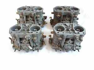 Dellorto 48 Drla Quad Set Twin Carburetors Rover V8 Shelby Chevrolet Tr8 Tvr8