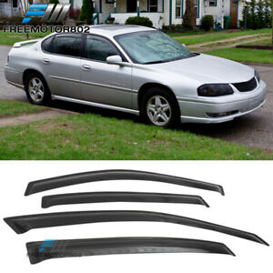 Fits 00 05 Chevy Impala Sedan Window Visors Guard Acrylic 4pc Set