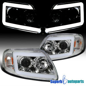 For 1997 2003 Ford F150 Expedition Led Drl Projector Headlights W Turn Signal