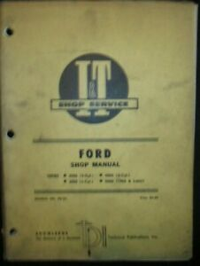 Ford Tractor Series 2000 3000 4000 5000 3 Cyl Shop Service Repair Manual I