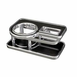 Carmate Drink Holder Fc141 Leather Black Table Type Chrome Car F s W tracking