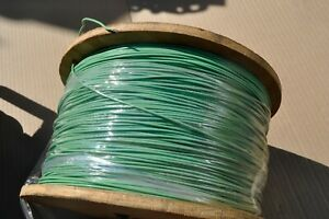 Mil spec Wire M22759 11 14 5 Teflon Coated Stranded Silver Plated 100 Ft Green