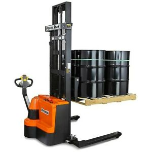 Great Condition Powerstak Pps2200 Fully Powered Electric Pallet Stacker