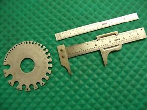 3 Pcs general Tools 4 729 Caliper 6 cf 616 Scale 21 Sheet Metal Gage
