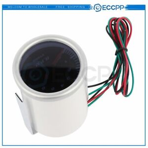 Car Auto 2 52mm Digital White Red Led Electronic Tachometer Tacho Gauge