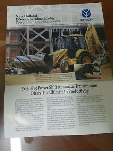 New Holland 575e 675e Tractor Loader Backhoe Color Sales Sheet From 1997