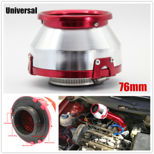 Car High Flow Intake Cold Air Filter Short Round Cone Air Filter 76mm Non woven
