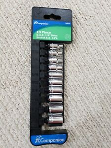 Sears 10 Piece S A E 1 4 Drive Socket Set With Storage Rail 3 16 To 9 16