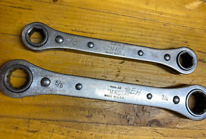 Mac Tools 2pc Sae Ratcheting Box End Wrench Set rbw 30 Rbw 15