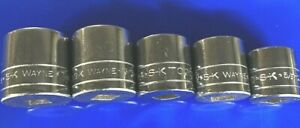S K Tool Sk 3 8 Drive 12 Pt Standard Sae Socket Set Of 5 4500 Series New