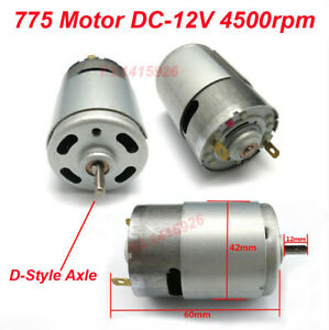 Dc 12v 4500rpm 775 Motor Oblate D style Axle Mini Generator High Torque Motor