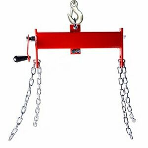 Engine Hoist Shop Crane Cherry Picker Load Leveler With Chains 4000lbs Capacity